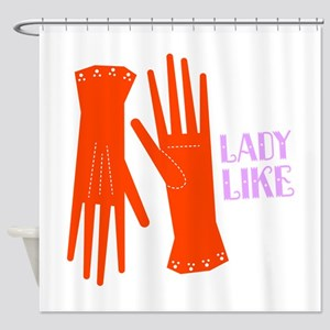 Lady Like Gloves Shower Curtain