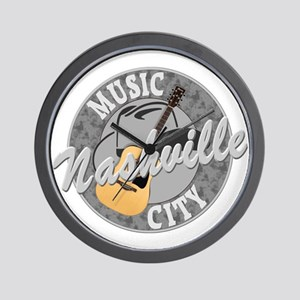 Nashville Music City-08-DK Wall Clock
