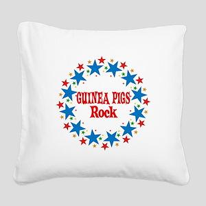 Guinea Pigs Rock Square Canvas Pillow