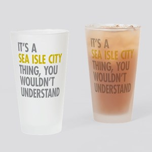 Sea Isle City Thing Drinking Glass