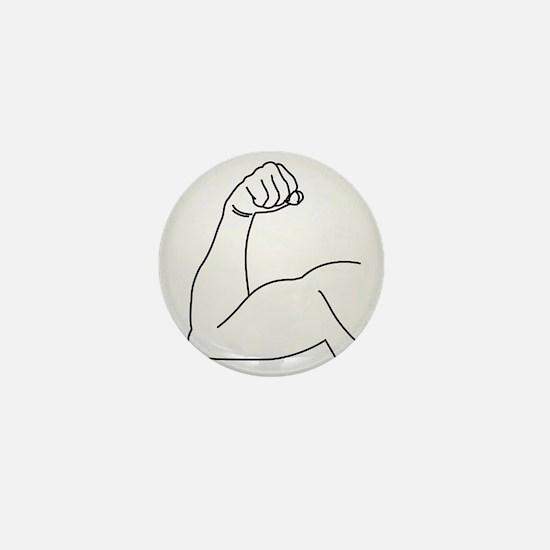 Unique Biceps Mini Button