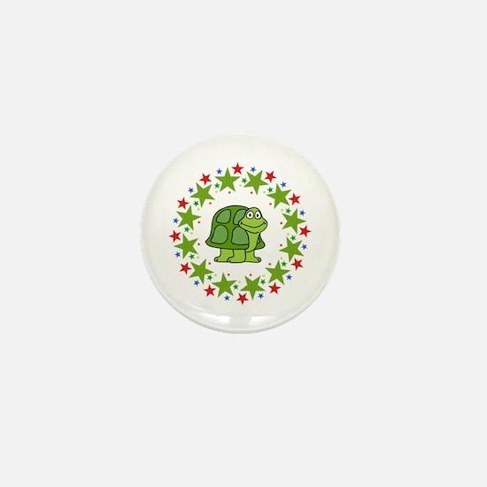 Turtle in Stars Mini Button