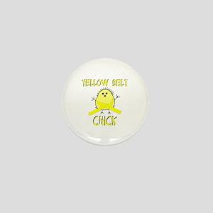 Yellow Belt Chick Mini Button