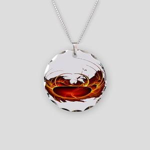 Polar Heat Necklace Circle Charm