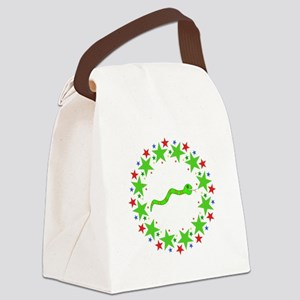 Snake in Stars Canvas Lunch Bag