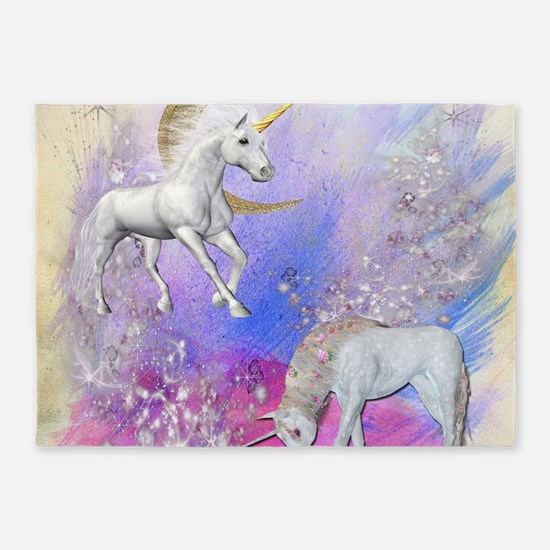 Unicorn Fantasy Sky 5'x7'Area Rug