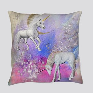 Unicorn Fantasy Sky Everyday Pillow