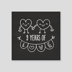 9th wedding anniversary gifts cafepress 9th anniversary gift chalkb square sticker 3 negle Gallery