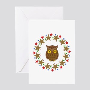 Owl in Stars Greeting Card