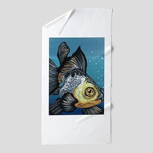 Panda Goldfish Beach Towel
