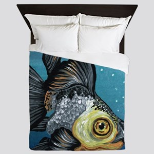 Panda Goldfish Queen Duvet