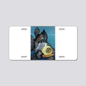Panda Goldfish Aluminum License Plate