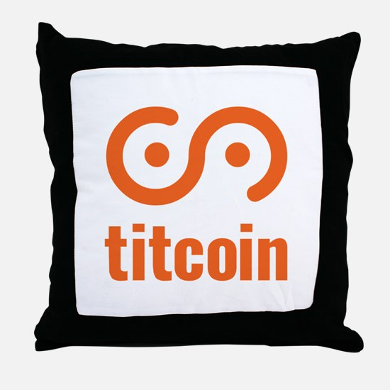 Cool Bitcoin logo Throw Pillow
