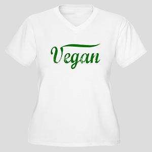 Vegan Women's Plus Size V-Neck T-Shirt