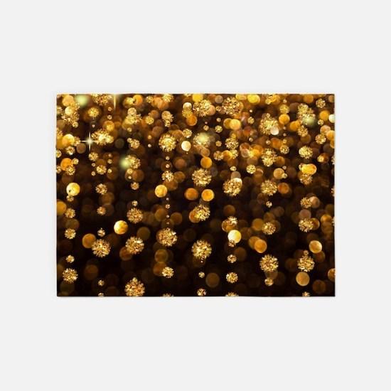 Gold Sparkles 5'x7'Area Rug
