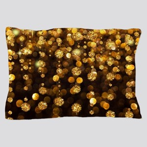 Gold Sparkles Pillow Case