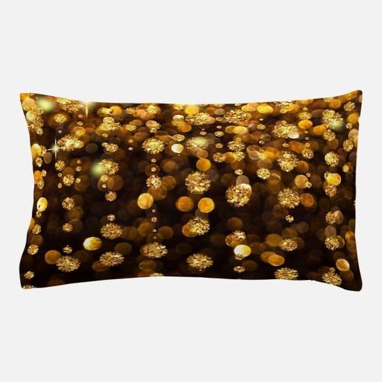 Gold Sparkles Pillow Case