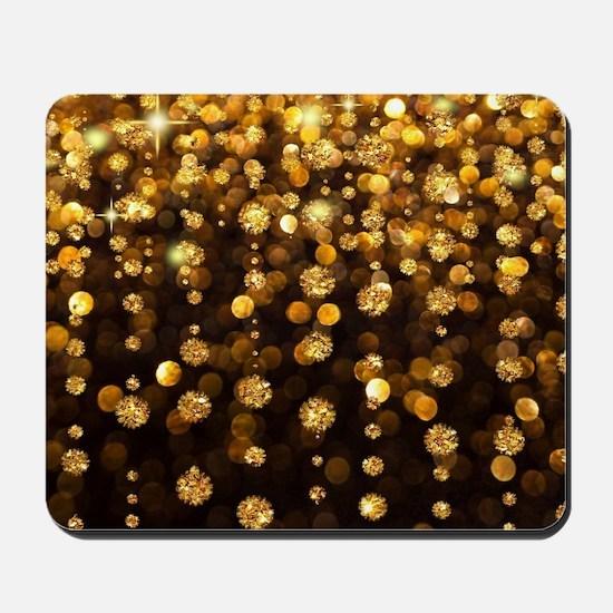 Gold Sparkles Mousepad