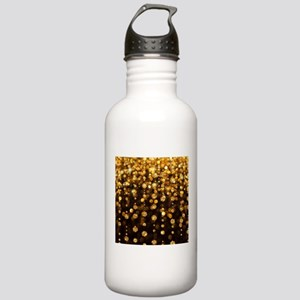 Gold Sparkles Sports Water Bottle