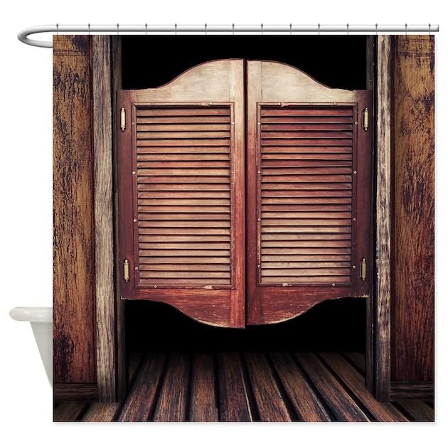 Wild West Saloon Door Shower Curtain By Wickeddesigns4