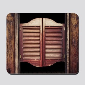 Wild West Saloon Door Mousepad