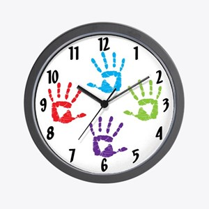 Hand Prints Wall Clock