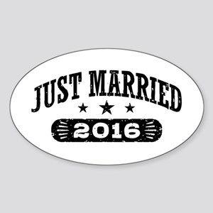 Just Married 2016 Sticker (Oval)