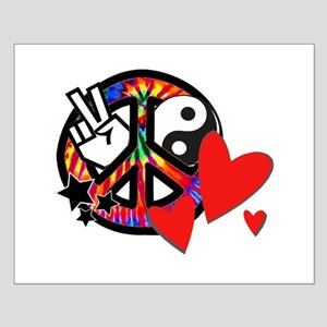 Peace & Love Small Poster