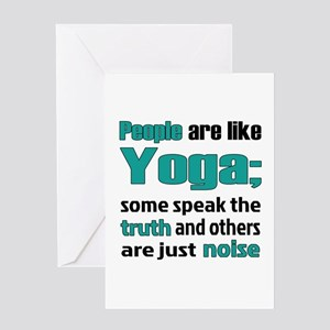 People are like Yoga Greeting Card