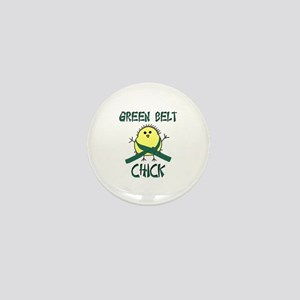 Green Belt Chick Mini Button