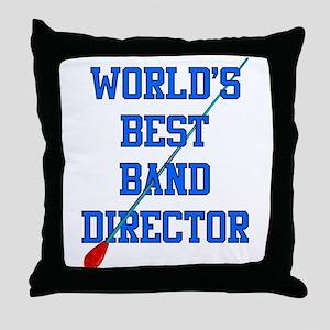 World's Best Band Director Throw Pillow