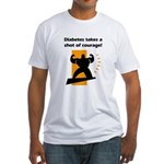 Diabetes Courage Fitted T-Shirt