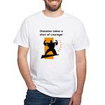 Diabetes Courage White T-Shirt