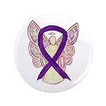 Purple Awareness Ribbon Angel Button