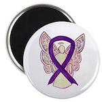 Purple Awareness Ribbon Angel Magnets