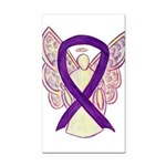 Purple Awareness Ribbon Angel Rectangle Car Magnet