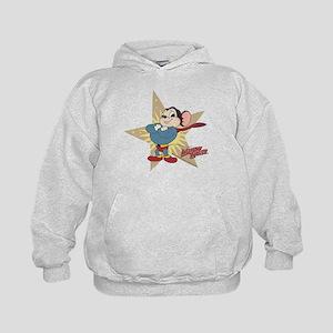 Mighty Mouse: Vintage Star Kids Hoodie