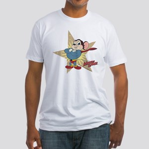 Mighty Mouse: Vintage Star Fitted T-Shirt