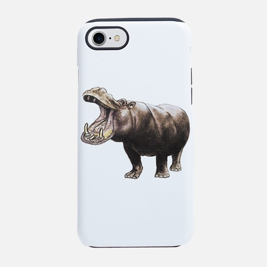 hippopotamus iPhone 8/7 Tough Case