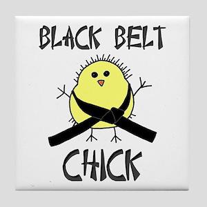 Black Belt Chick Tile Coaster