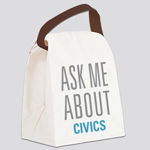 Ask Me About Civics Canvas Lunch Bag