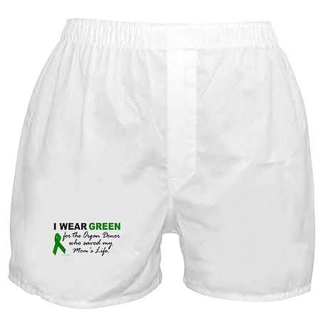 I Wear Green (Saved My Mom's Life) Boxer Shorts
