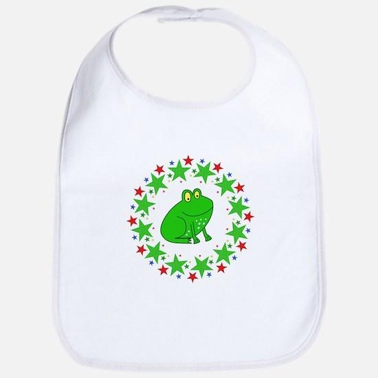 Frog in Stars Bib
