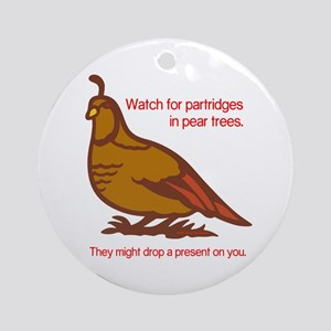 Partridge Ornament (Round)