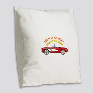 Vintage Convertible Burlap Throw Pillow