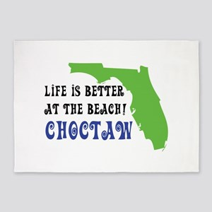 Life is better at the beach - Choct 5'x7'Area Rug