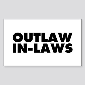 Outlaw In-Laws Sticker (Rectangle 10 pk)