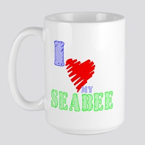Love my Seabee Large Mug