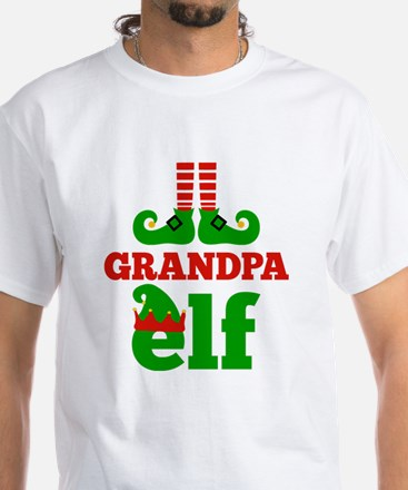 Grandpa Elf Christmas T-Shirt