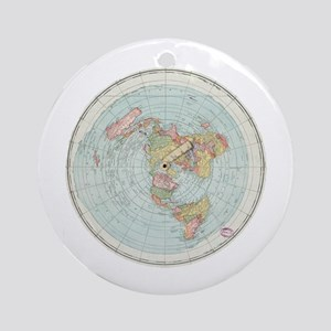 Flat Earth /Gleason's Map 1892 Round Ornament
